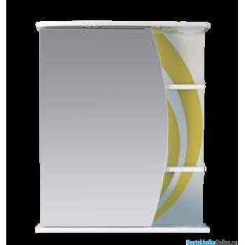 Зеркало-шкаф Misty Каролина 60 L желтый П-Крл02060-315СвЛ