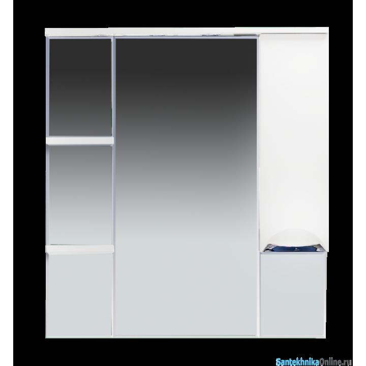 Зеркало-шкаф Misty Кристи 90 R белый П-Кри02090-011СвП