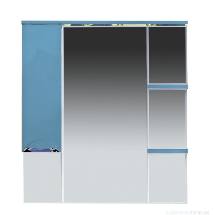 Зеркало-шкаф Misty Кристи 90 L голубой П-Кри02090-061СвЛ