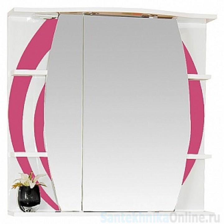 Зеркало-шкаф Misty Каролина 70 L розовый П-Крл02070-295СвЛ