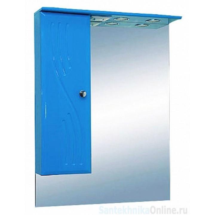 Зеркало-шкаф Misty МИСТИ-60 зеркало-шкаф лев. (свет) голубая Э-Мис02060-06СвЛ