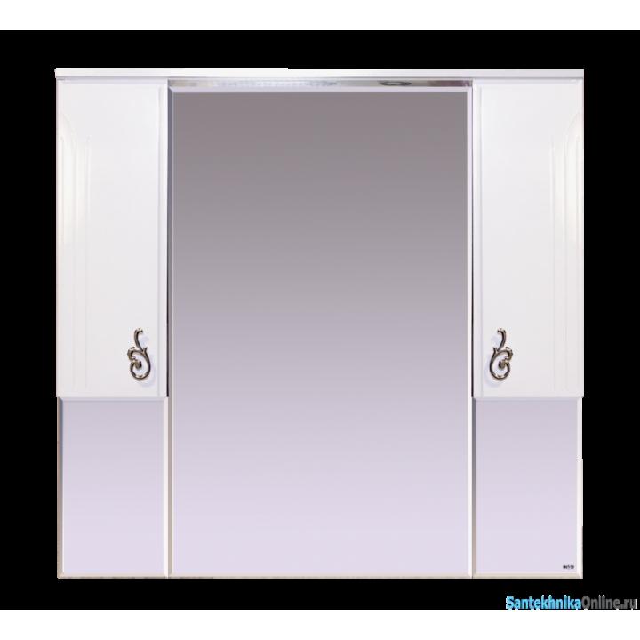 Зеркало-шкаф Misty Неаполь 105 П-Неа04105-011Св