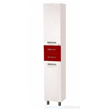 Шкаф-пенал Misty Моника 35 L белый/красный П-Мон05035-262БкЛ