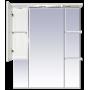 Зеркало-шкаф Misty Александра - 85 зеркало-шкаф лев.(свет) белый мет П-Але04085-352СвЛ