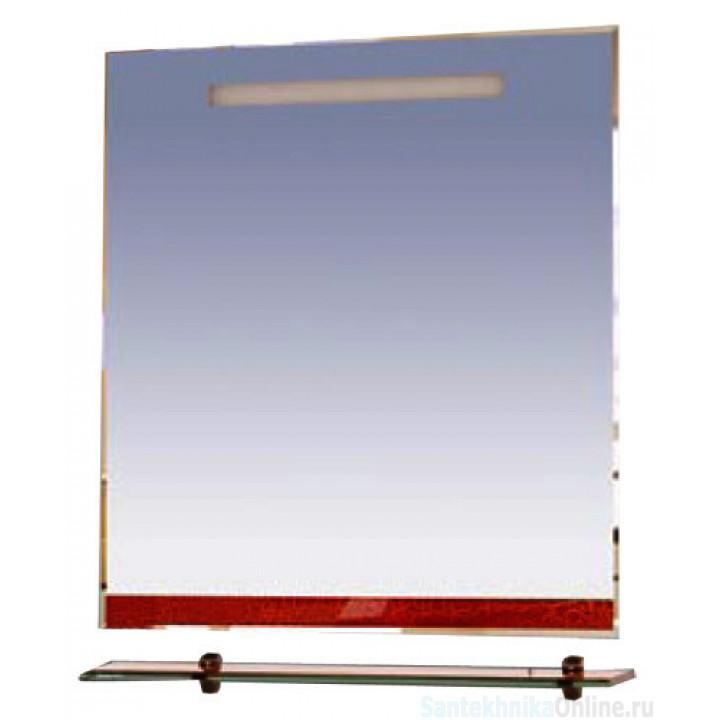 Зеркала Misty Джулия - 75 Зеркало с полочкой 12 КРАКОЛЕТ красный Л-Джу03075-0413