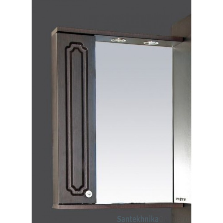 Зеркало-шкаф Misty Александра - 55 зеркало-шкаф лев. (свет) ВЕНГЕ П-Але04055-052СвЛ