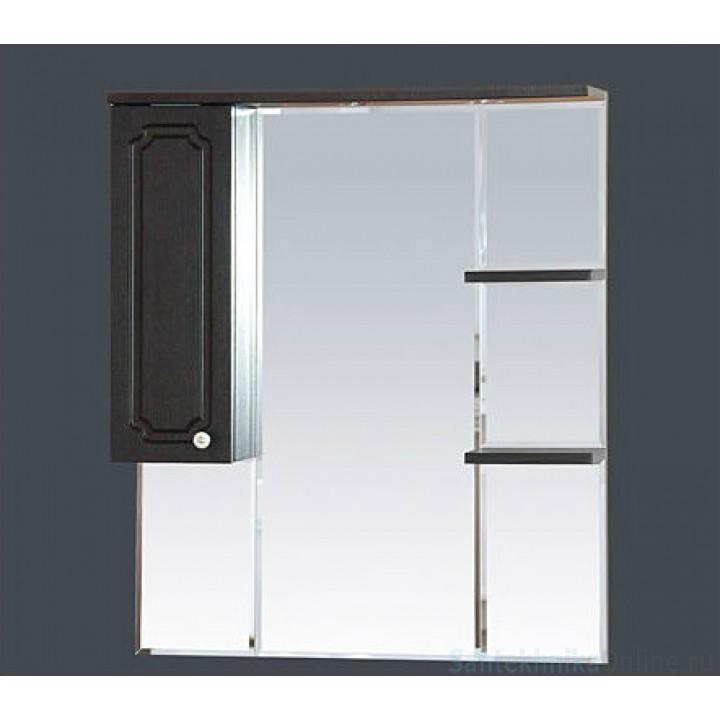 Зеркало-шкаф Misty Александра - 85 зеркало-шкаф лев. (свет) ВЕНГЕ П-Але04085-052СвЛ