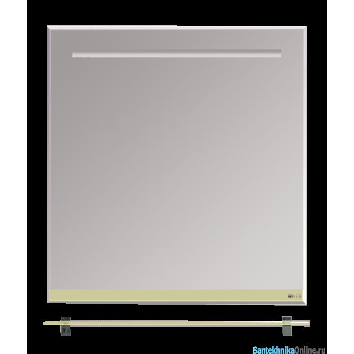 Зеркала Misty Джулия - 75 Зеркало с полочкой 8 мм бежевое Beidge Л-Джу03075-5310