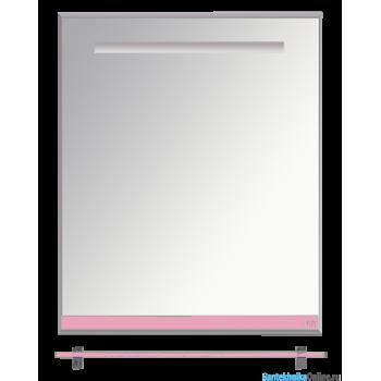 Зеркала Misty Джулия - 60 Зеркало с полочкой 12 мм розовое Л-Джу03060-1210