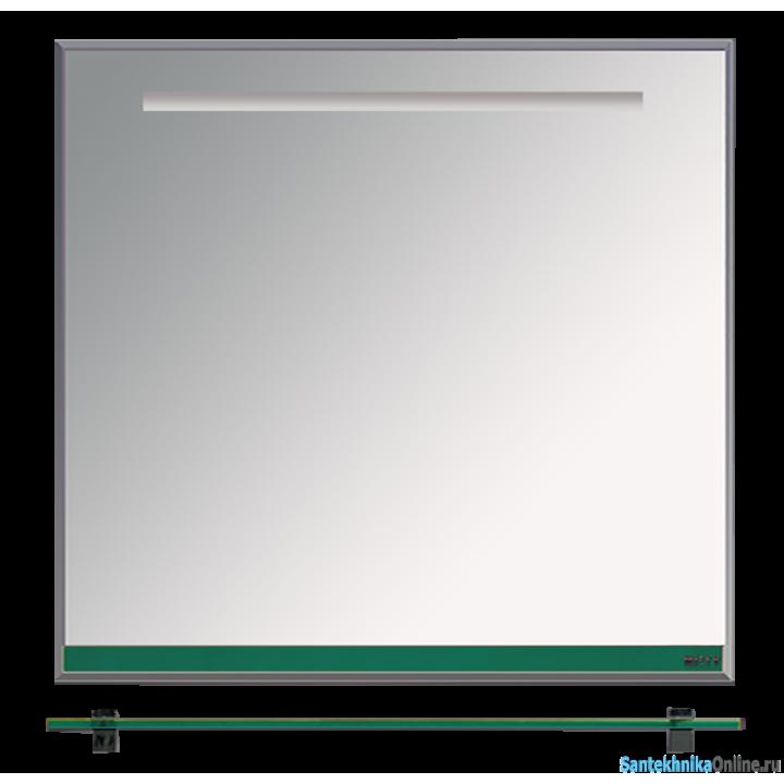 Зеркала Misty Джулия - 90 Зеркало с полочкой 12 мм зеленое Л-Джу03090-0810