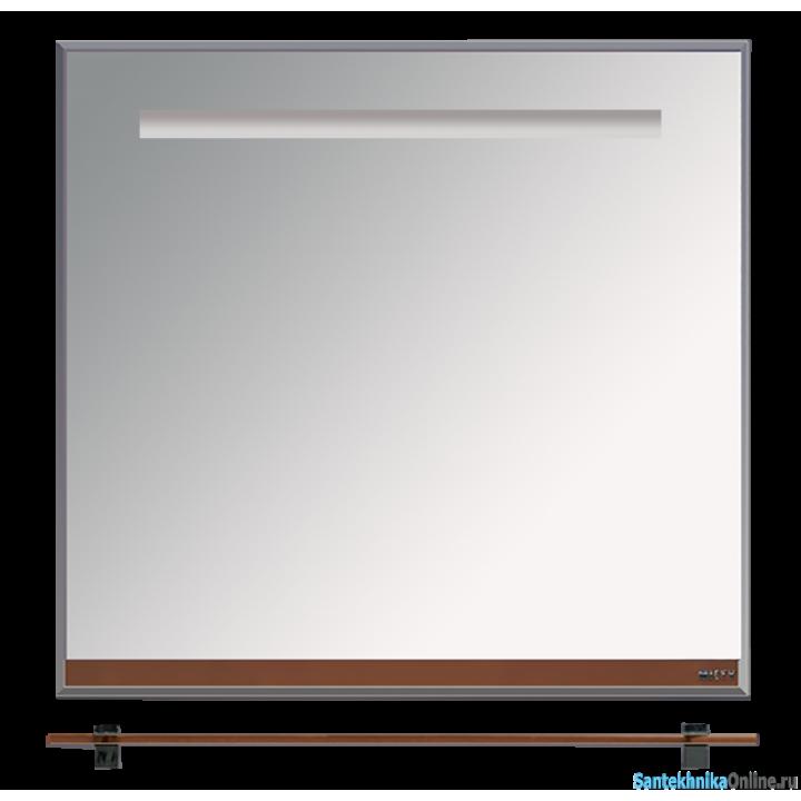 Зеркала Misty Джулия - 90 Зеркало с полочкой 12 мм коричневое Л-Джу03090-1410
