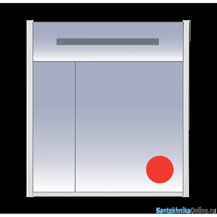 Зеркало-шкаф Misty Джулия 75 красный Л-Джу04075-0410