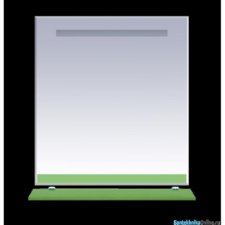 Зеркала Misty Джулия - 85 Зеркало с полочкой 12 мм салатовое Л-Джу03085-0710