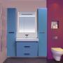 Зеркало-шкаф Misty Джулия 65 синий Л-Джу04065-1110