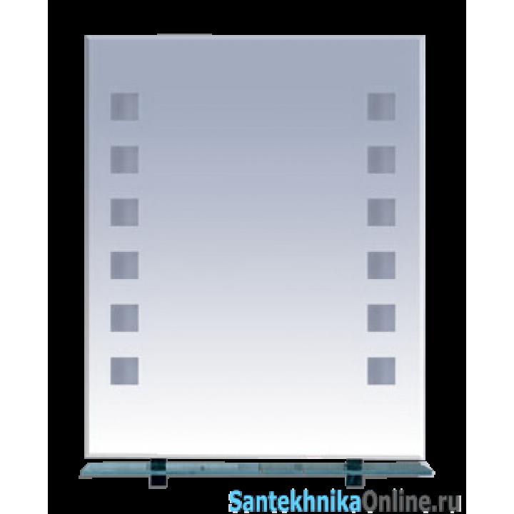 Зеркала Misty Эллада - 60 Зеркало с полочкой (свет) П-Элл03060-Св