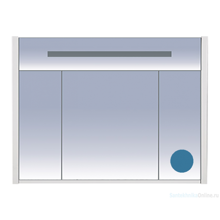 Зеркало-шкаф Misty Джулия 105 синий Л-Джу04105-1110