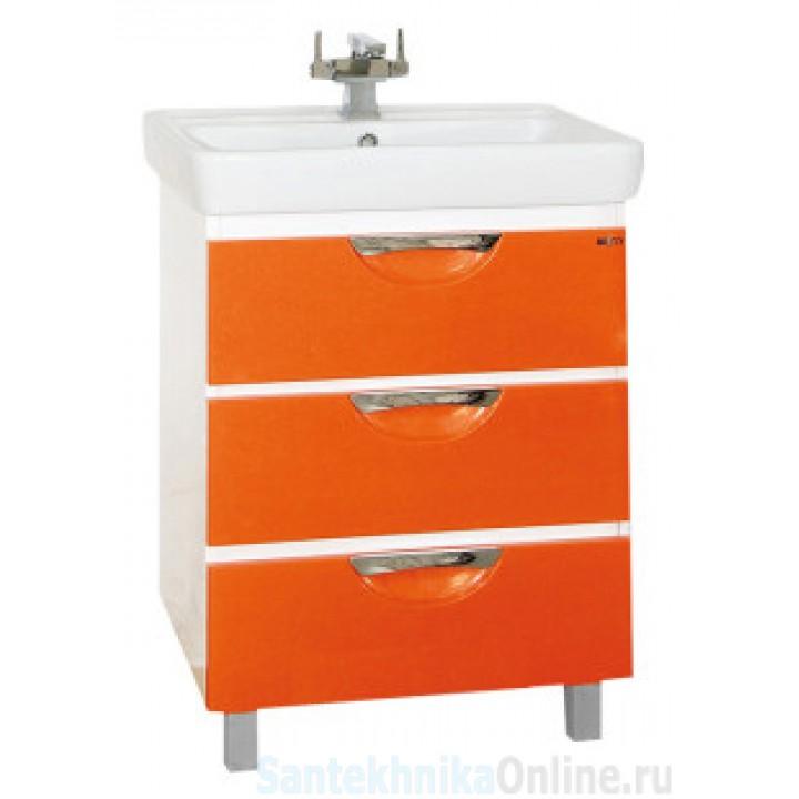 Тумба под раковину Misty Жасмин 60 оранжевая П-Жас01060-1323Я