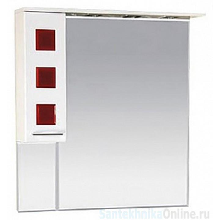Зеркало-шкаф Misty Кармен 90 L красный П-Крм04090-2615Л