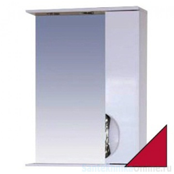 Зеркало-шкаф Misty Жасмин 55 R красный П-Жас02055-042СвП