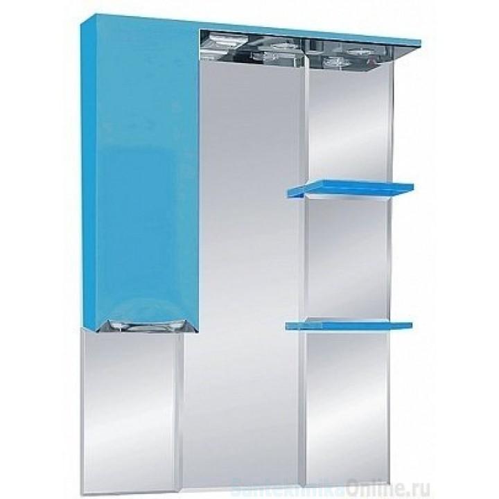 Зеркало-шкаф Misty Жасмин 75 L голубой П-Жас02075-061СвЛ