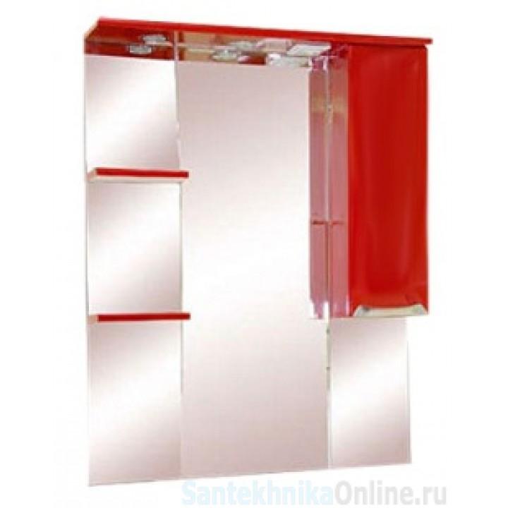 Зеркало-шкаф Misty Жасмин 75 R красный П-Жас02075-041СвП