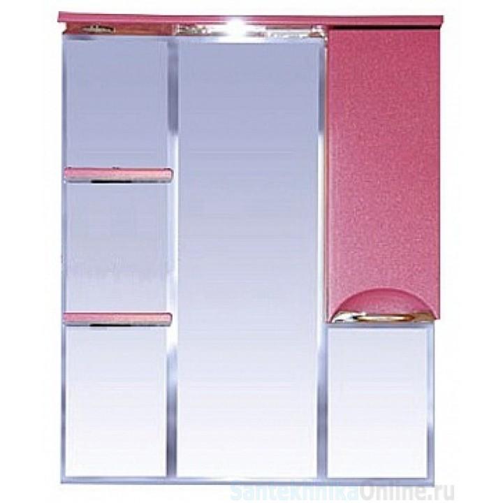 Зеркало-шкаф Misty Жасмин 85 R розовый П-Жас02085-122СвП