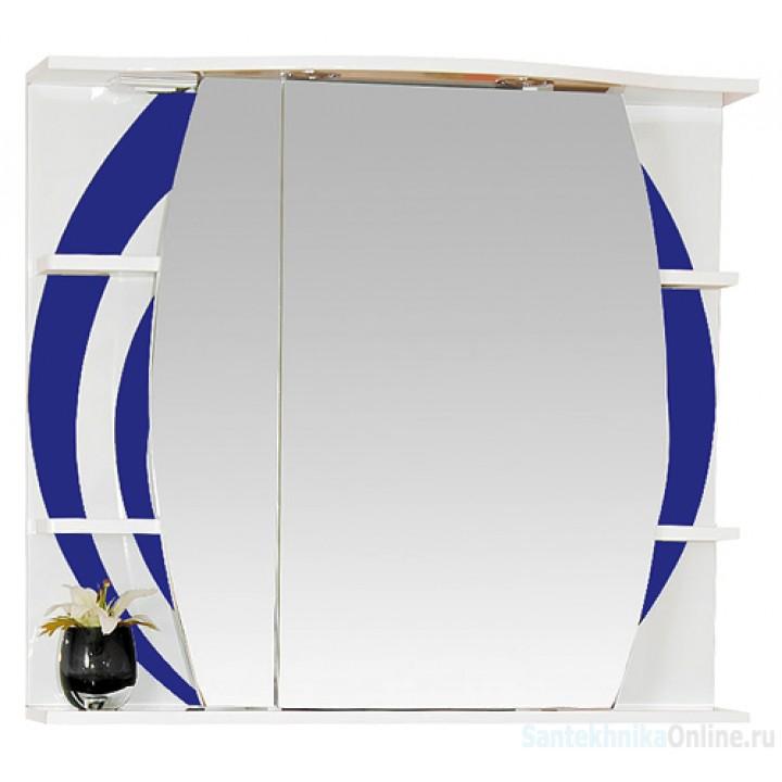Зеркало-шкаф Misty Каролина 70 L синий П-Крл02070-305СвЛ