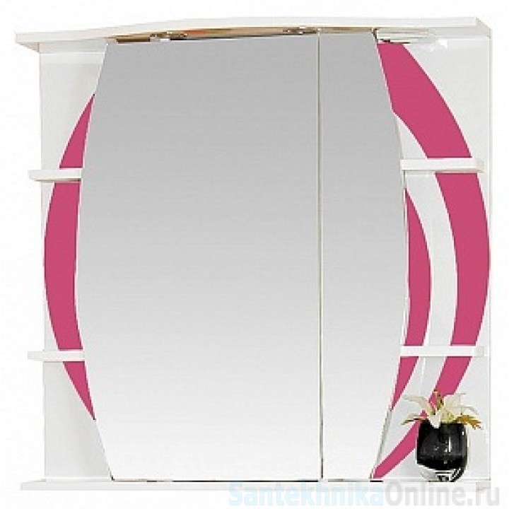 Зеркало-шкаф Misty Каролина 70 R розовый П-Крл02070-295СвП