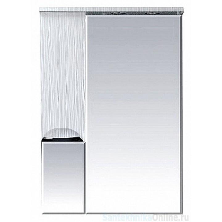 Зеркало-шкаф Misty Лорд - 65 зеркало-шкаф (свет) лев. (белая пленка) П-Лрд04065-012СвЛ