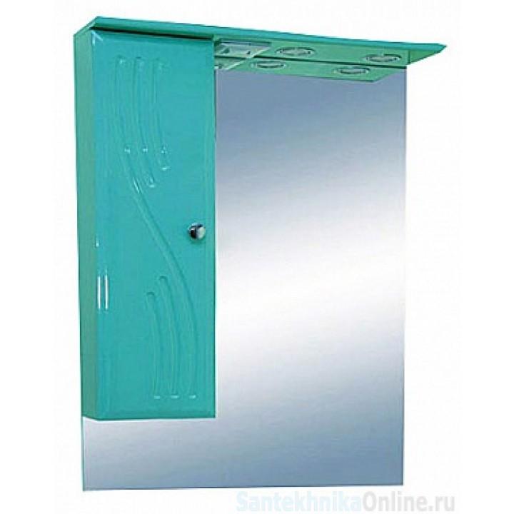 Зеркало-шкаф Misty МИСТИ-60 зеркало-шкаф лев. (свет) салатовая Э-Мис02060-07СвЛ