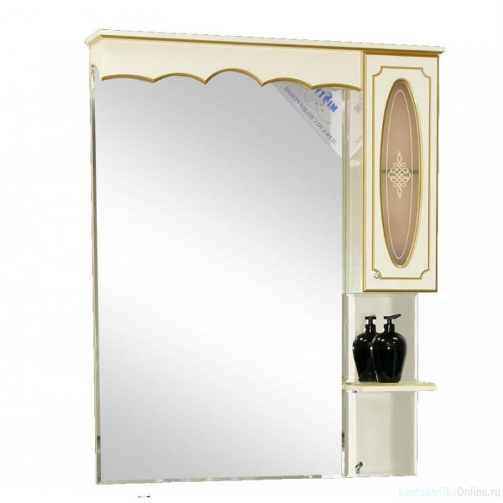 Зеркало-шкаф Misty Монако 70 R белый Л-Мнк02070-013П