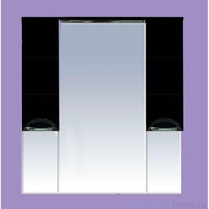 Зеркало-шкаф Misty Петра 120 черный П-Пет04120-021Св