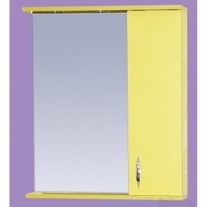 Зеркало-шкаф Misty Стиль 60 R желтый Э-Сти02060-48СвП