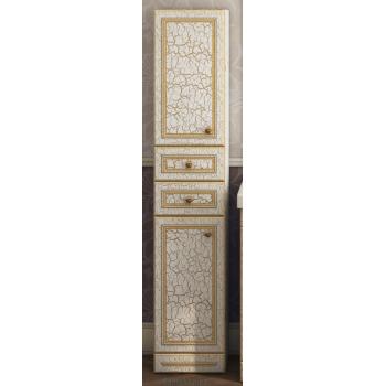 Шкаф-пенал Misty Fresko 35 L с 2-мя ящиками белый патина Л-Фре05035-01172ЯЛ