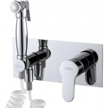 Смеситель с гигиеническим душем встраиваемый D&K Rhein Marx DA1394501