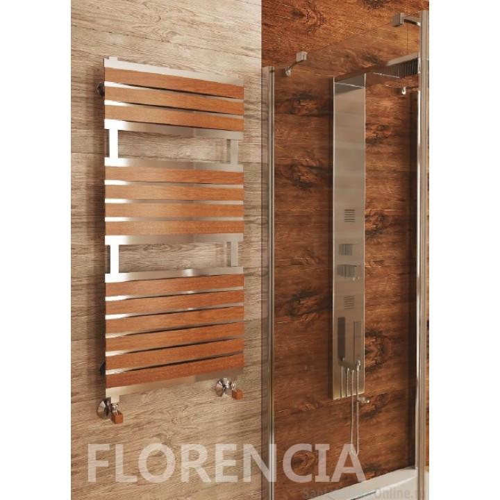 Полотенцесушитель водяной Benetto Флоренция 30*30/50*10 П16 7-5-4 дер.накл.13шт амер.орех