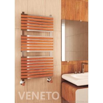 Полотенцесушитель водяной Benetto Венето 30*30/30*10 П20 8-6-6 дер.накл.17шт вишня
