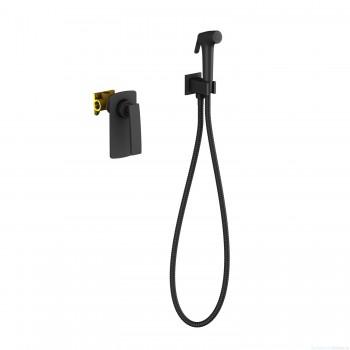 Смеситель встроенный с гигиеническим душем Timo Helmi 4089/03SM черный