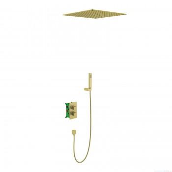 Душевая система встроенная с термостатом Timo Petruma SX-5029/17SM золото матовое