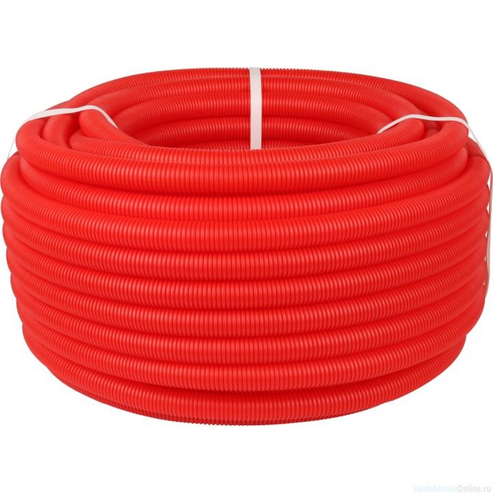 Труба STOUT гофрированная ПНД, d 20 мм для труб диаметром 14-18 мм, цвет красный SPG-0002-502016