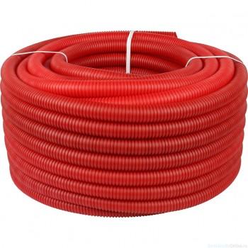 Труба STOUT гофрированная ПНД, d 32 мм для труб диаметром 25 мм, цвет красный