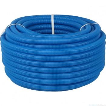 Труба STOUT гофрированная ПНД, d 20 мм для труб диаметром 14-18 мм, цвет синий